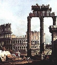 Il Colosseo in un dipinto di Bernardo Bellotto (1721-1780)