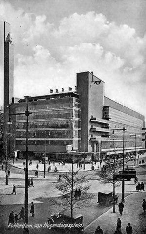 Willem Marinus Dudok - Image: Bijenkorf Rotterdam 1935