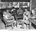 Bikini Resurvey scientists in the officers club at Bikini Island, summer 1947 (DONALDSON 166).jpeg