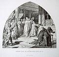 Bilder-Cyclus - Aus dem Leben Karls des Grossen, VI. Krönung Karls des Grossen durch Papst Leo III., von Alfred Rethel, gez. J. Kehren.jpg