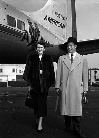 Billy Daniels - Billy Daniels and Martha Braun Daniels at the Los Angeles airport in 1950.