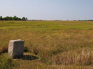 Minnesota Historical Society - Image: Birch Coulee Battlefield monument