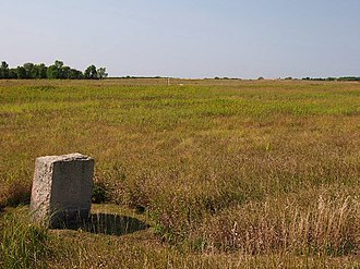 Birch Coulee Battlefield - Birch Coulee Battlefield with a monument