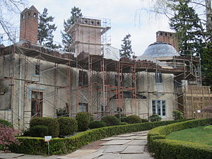 Bitar Mansion - The mansion following foreclosure, April 2012