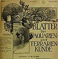 Blätter für Aquarien- und Terrarien-Kunde (1905) (19766100763).jpg