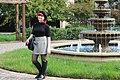 Black Short Sleeved Turtleneck, Houndstooth Mini Skirt, Polka Dot Tights, and Black Boots (23037365472).jpg