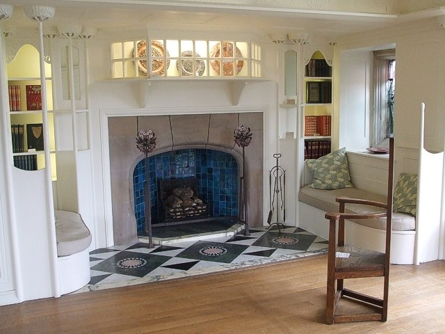 Blackwell - White Room Fireplace - geograph.org.uk - 546780