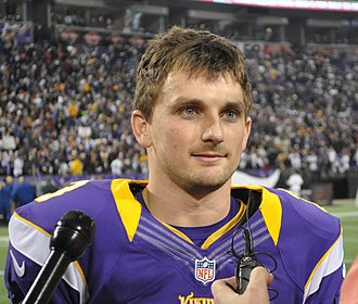 Blair Walsh - Walsh speaks with the media after a game-winner against the Packers.