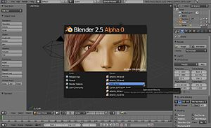 Blender's user interface has been upgraded for...