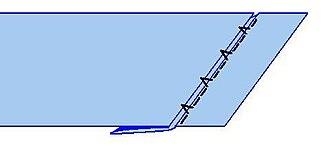 Zigzag stitch - Blind stitch variant of the zigzag stitch