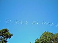 Bling-Bling Skywriting by David Shankbone, New...