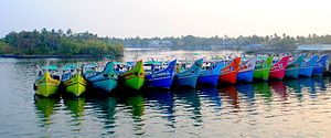Vypin - Fishing boats from Vypin.