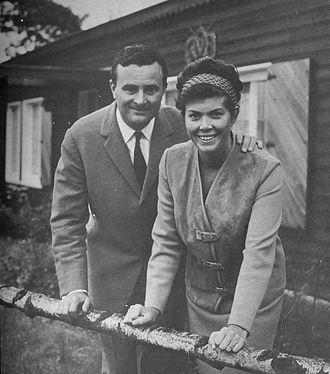 Bobbejaanland - Bobbejaan and Josée Schoepen, ca. 1962.