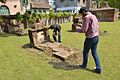Bodhisattwa Mandal And Sukanta Pal Documenting Tomb - Dutch Cemetery - Chinsurah - Hooghly 2017-05-14 8434.JPG