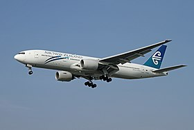 Un Boeing 777-219ER d'Air New Zealand.