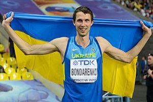 2013 World Championships in Athletics – Men's high jump - Gold medalist Bohdan Bondarenko