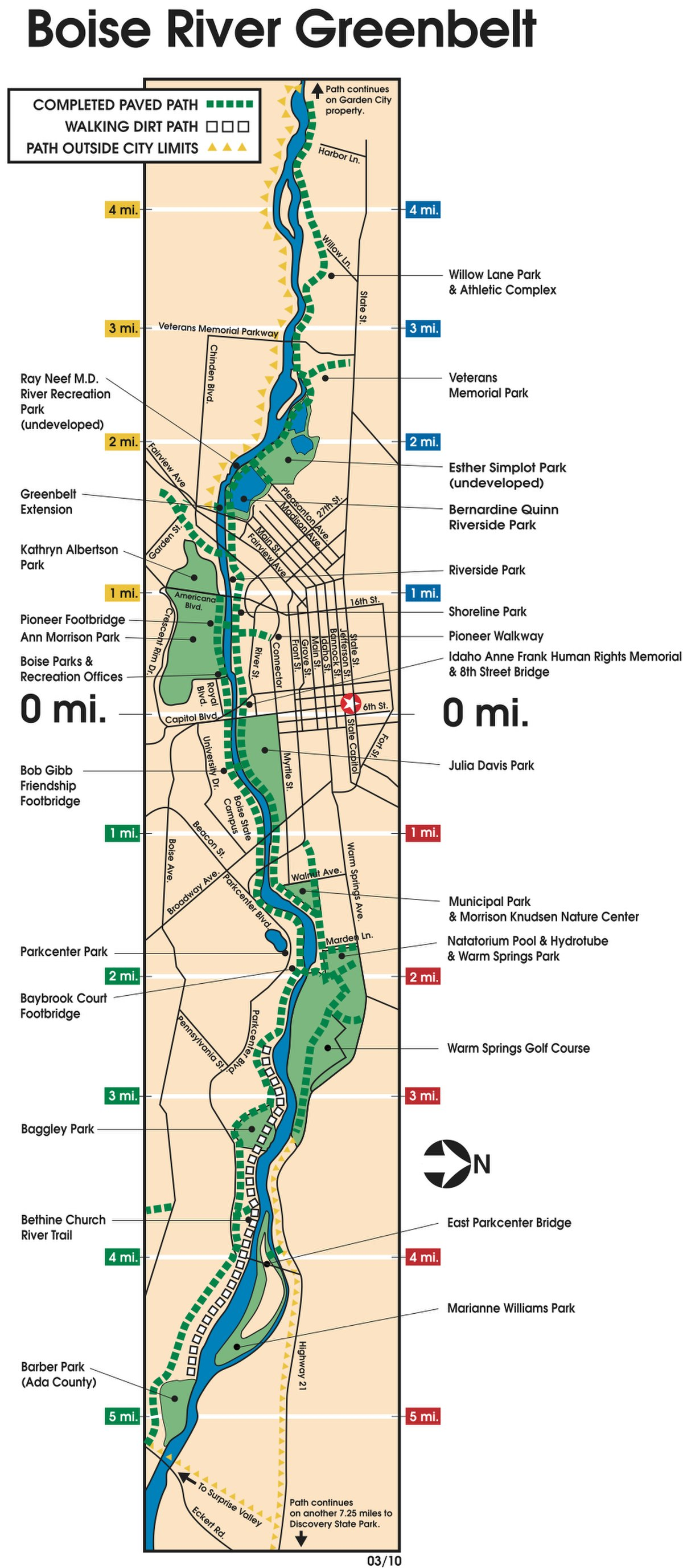 Map Of Greenbelt Trail Long Island