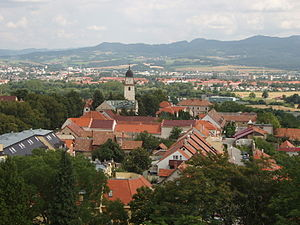 Bojnice - View of Bojnice from the Castle