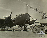 Bombing up a 462 Squadron RAAF Halifax in Libya AWM MED1718.jpg