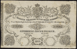 Store of value - Polish National Government bond, 1863