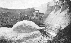 Boone Dam - Water exiting one of Boone Dam's sluice gates