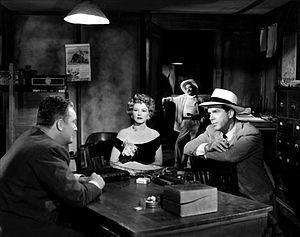 Borderline (1950 film) - Roy Roberts, Claire Trevor and Fred MacMurray in Borderline