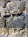 Borobudur - Divyavadana - 110 E, Maitrakanyaka meets with sixteen Nymphs (detail 3) (11704991345).jpg