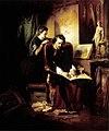 Borsos Az elégedetlen festő 1852.jpg