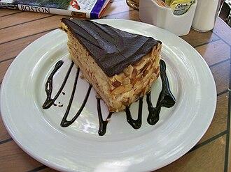 Boston cream pie - Boston cream pie with chocolate drizzle