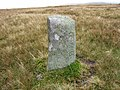 Boundary Stone on the Carneddau - geograph.org.uk - 648592.jpg