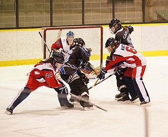National Ringette League - Image: Bourassa Royal 12 février 2012 022