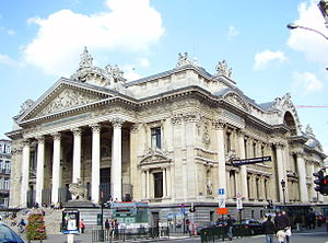 Second Empire architecture in Europe - Image: Bourse Bxl 01