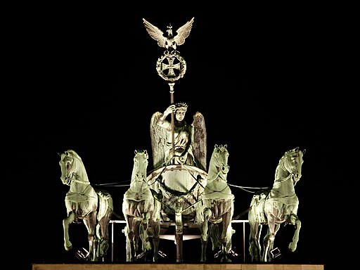 Brandenburg Gate Quadriga at Night