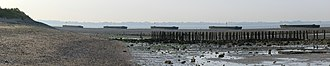 Dengie nature reserve - Image: Breakwater barges, Sales Point, Bradwell on Sea
