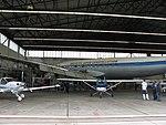 Breitling Super Constellation HB-RSC im Hangar in Lahr (EDTL) während einer Instandsetzung im Oktober 2010 02.jpg