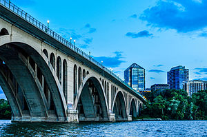 Key Bridge (Washington, D.C.) - View of the Francis Scott Key Bridge, US 29, over the Potomac River from Georgetown