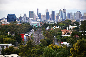 Ipswich and Rosewood railway line - Section of the line between Toowong and Taringa