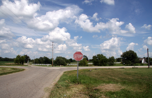 Brisco, Indiana - Looking east toward the site of Brisco