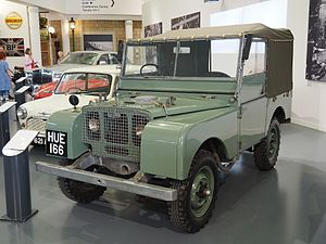 British Motor Museum - 1948 Land Rover pre-production, HUE 166