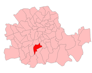 Brixton (UK Parliament constituency) - Brixton in London 1918–50