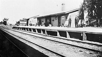 Corowa railway line - Brocklesby station c.1925