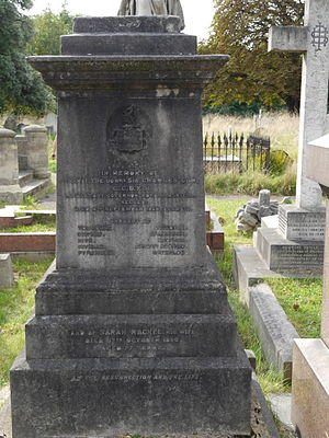 Charles Stephen Gore - Brompton Cemetery monument