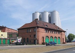 Tychy Brewery - One of the buildings of the Tychy Brewery complex