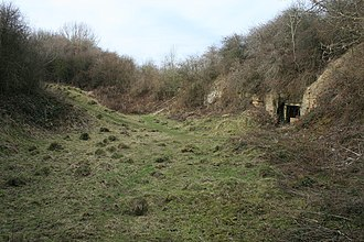 Ab Kettleby - Brown's Hill Quarry - at Holwell showing entrance to drift mine. geograph.org.uk - 1183115