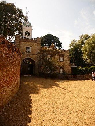 Brownsea Castle - The gatehouse and clocktower, built in 1852