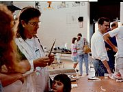 Sterling at Robofest '94 (with mullet).