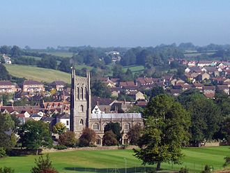 Bruton Abbey - Bruton Parish church, and the abbey site beneath the playing field