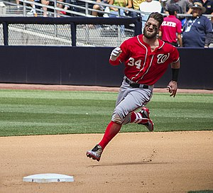Bryce Harper - Harper running the bases in 2015