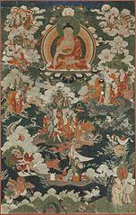 Buddha Shakyamuni and the Eighteen Arhats