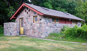 Buffalo River State Park (Minnesota) - One of the district's six contributing properties, a 1938 latrine